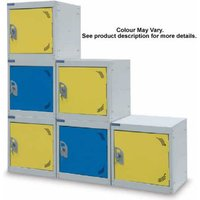 Machine Mart Xtra Barton Storage Silver/Red 380 Cube Locker