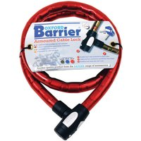 Machine Mart Xtra Oxford OF147 Barrier Motorcycle Cable Lock (Red)