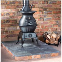 Price Cuts Clarke Potbelly Extra Large   Cast Iron Wood Burning Stove