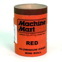 National Abrasives Red Aluminium Oxide Paper - 5m Roll, 80 Grit