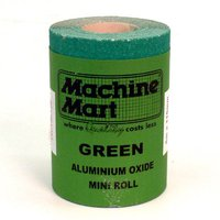 National Abrasives Green Aluminium Oxide Paper - 5m Roll, 100 Grit