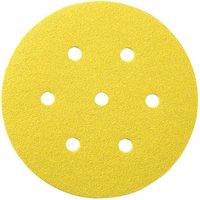 National Abrasives 50 Alu  Oxide 7 Hole Sanding Disc 150mm Diameter   Assorted