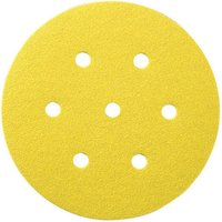 National Abrasives 50 Alu  Oxide 7 Hole Sanding Disc 150mm Diameter   Assorted