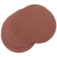National Abrasives 180mm Aluminium Oxide Sanding Discs - 60 grit