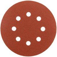 National Abrasives Alu  Oxide  Hook   Loop 125mm Sanding Discs   Holes  Medium