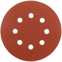 National Abrasives Alu  Oxide  Hook   Loop 125mm Sanding Discs   Holes  Assorted