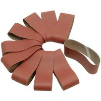 National Abrasives Aluminium Oxide Sanding Belts   76x457mm 60 Grit  Pk10