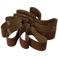 National Abrasives Aluminium Oxide Sanding Belts   76x457mm 80 Grit  Pk10