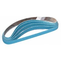 National Abrasives Zirconium Heavy Duty Powerfile Belt 13x455mm Assorted Grit   Pk10