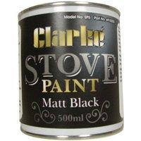 Clarke Clarke SP5 Heat Resistant Stove Paint   Matt Black  500ml