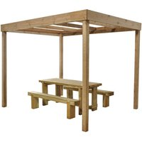 Machine Mart Xtra Forest 221x200x300cm Dining Pergola Without Panels