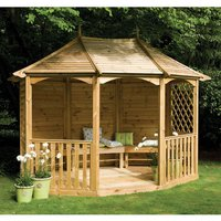 New Forest 290x358x282cm Burford Pavilion (Ready Assembled)