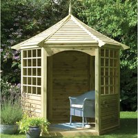Machine Mart Xtra Forest 292x281x245cm Arden Gazebo (Ready Assembled)