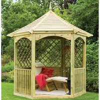 Machine Mart Xtra Forest 292x280x245cm Burford Gazebo (Ready Assembled)