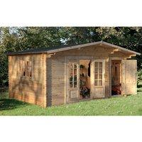 Forest Forest 4.5 x 3.5m Wrekin Log Cabin