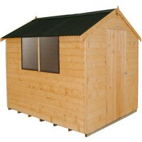 Click to view product details and reviews for Forest Forest 6x8ft Apex Shiplap Dipped Shed With Corrugated Roof.