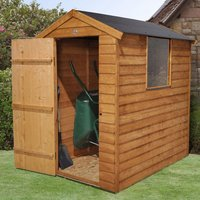 Click to view product details and reviews for Forest Forest 4x6 Apex Overlap Dipped Shed Easy Fit Roof.