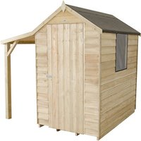 Forest Forest 4x6ft Apex Overlap Pressure Treated Shed with Lean To