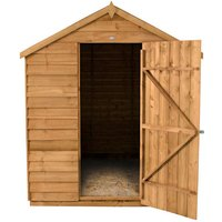 Forest Forest 6x8ft Apex Overlap Dipped Shed No Window