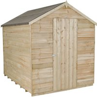 Forest Forest 6x8ft Apex Overlap Pressure Treated Shed With No Window