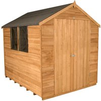 Forest Forest 6x8ft Apex Overlap Dipped Double Door Shed