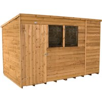Forest Forest 10x6ft Pent Overlap Dipped Shed