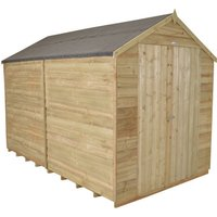 Forest Forest 10x8ft Apex Overlap Pressure Treated Double Door Shed No Window
