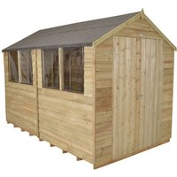 Click to view product details and reviews for Forest Forest 8x10ft Apex Overlap Pressure Treated Double Door Shed.