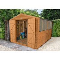 Forest Forest 8x12ft Apex Overlap Dipped Shed