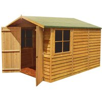 Shire Shire 4 x 6 Overlap Apex Double Door Shed