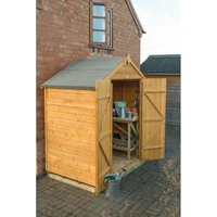 Forest Forest Overlap Dip Treated 6x4 Apex Shed (Assembly Included)