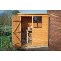 Forest Forest Product Overlap Dip Treated 6x4 Pent Shed (Assembled)