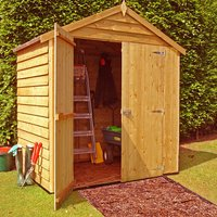 Machine Mart Xtra Shire 4 x 6 Overlap Double Door Shed