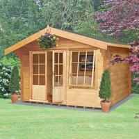 Machine Mart Xtra Shire 12 x 10 Hale Log Cabin