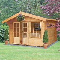 Machine Mart Xtra Shire 12 x 12 Hale Log Cabin