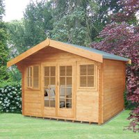 Shire Shire 12 x 12 Clipstone Log Cabin