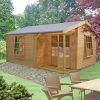 Machine Mart Xtra Shire 12 x 16 Ringwood Log Cabin