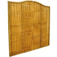 Forest Forest 6x6ft Closeboard Wave Fence Panel 5 Pack