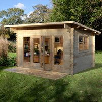 Forest Forest 4 x 3m Melbury Log Cabin (Assembled)
