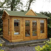 Forest Forest 4 x 3m Alderley Log Cabin (Assembled)