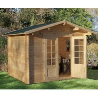Forest Forest 3 x 2.5m Bradnor Log Cabin (Assembled)
