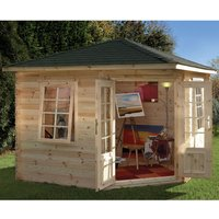 Forest Forest 3 x 3m Wenlock Log Cabin (Assembled)