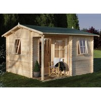 Forest Forest 3.6 x 3.6m Malvern Log Cabin (Assembled)