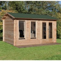 Forest Forest 4 x 3m Chiltern Log Cabin (Assembled)