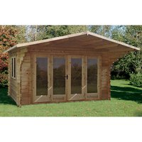 Forest Forest 4 x 3m Abberley Log Cabin (Assembled)
