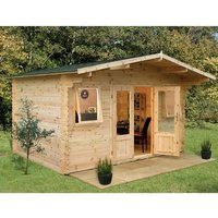 Forest Forest 4 x 4m Nevis Log Cabin (Assembled)