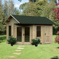 Forest Forest 4 x 2.8m Ripon Log Cabin (Assembled)