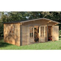 Forest Forest 4.5 x 3.5m Wrekin Log Cabin (Assembled)