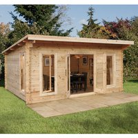 Forest Forest 5 x 4m Mendip Log Cabin (Assembled)
