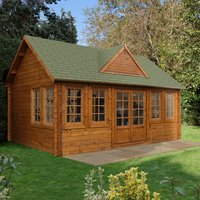 Forest Forest 5.5 x 4m Cheviot Log Cabin (Assembled)